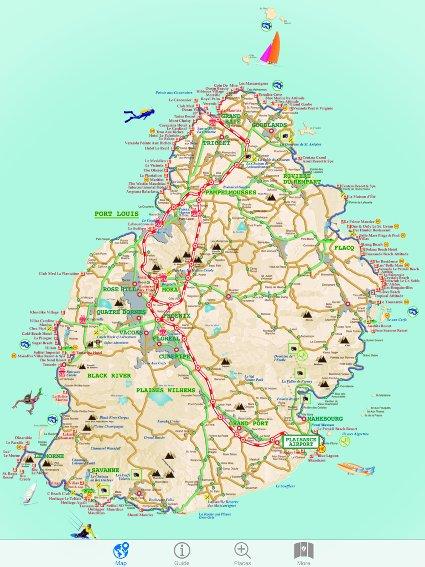 JollyMaps - Detailed map of mauritius